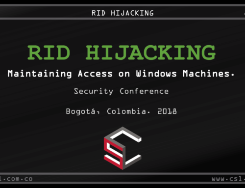 """RID HIJACKING"" security conference material"